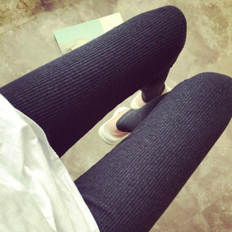 Autumn Winter Leggings Women High Waist Fitness Leggings Slim Ninth Pants Thin Leggings