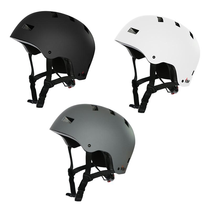 Vihir Adjustable Dial Professional Outdoor Sport Skateboard Skating Helmet Bike Bicycle Cycling Helmet Protection For Kids Adult