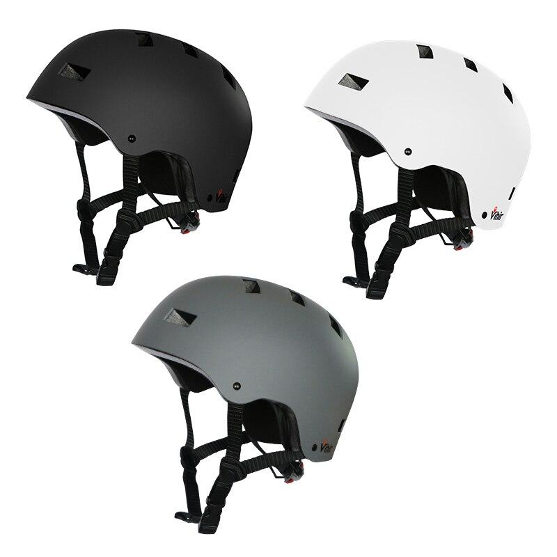 Vihir ajustável dial profissional esporte ao ar livre skate patinação capacete da bicicleta ciclismo capacete de proteção para adulto criança