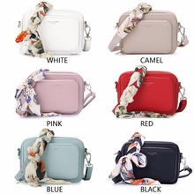 DAVIDJONES women handbag pu leather female messenger bags small lady scarve crossbody bag girl brand shoulder bag drop shipping