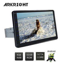 ARKRIGHT 10 »1Din 4 + 64 Гб Восьмиядерный Автомобильный плеер универсальный автомобильный HU Android 8,1 автомобильный Радио Стерео Аудио мультимедийный плеер DSP SC9853