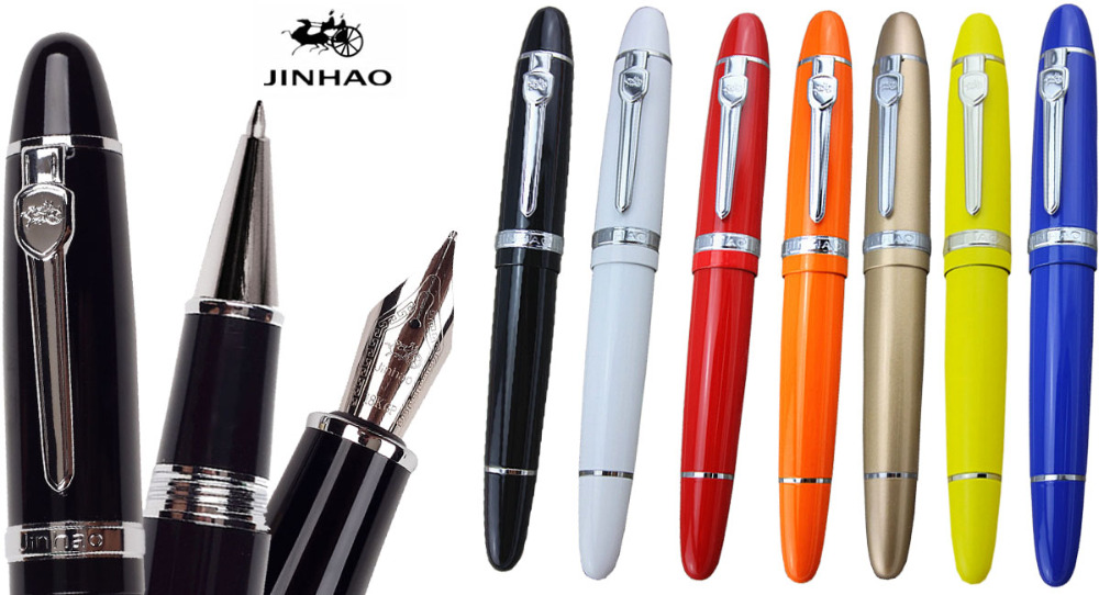 Fountain Pen  and RollerBall pen  JINHAO 159 office and school stationery standard big signature gel ink pen  Free Shipping jinhao jh 029 acrylic fountain pen translucent light blue