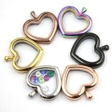 Carvort ювелирные изделия! сердце магнитной 316L неоднородная нержавеющая сталь медальон Кулон(без подвески