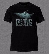2018 Latest Men T Shirt Fashion Printed T-Shirt Men Manta Ray Diver Gear Scuba Ocean Sea Printed T-Shirt Men ocean road t shirt