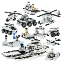 Hot 25 in 1 3D Military model building Stacking blocks helicopter tank Chariot car war Aircraft boat Boys toys Birthday gifts