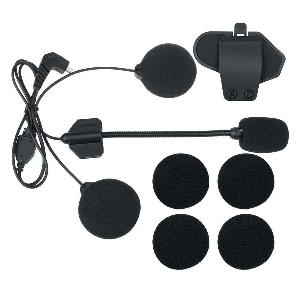 T-MAX Accessories,earphone Headphone Microphone And Clip Work For T-MAX Motorcycle Helmet Intercom Headset