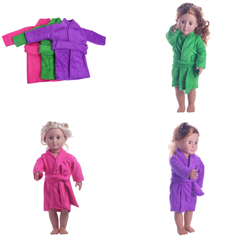 2018 New 18 Inch American Girl Doll Pajamas Dressing Gown Dolls Accessory