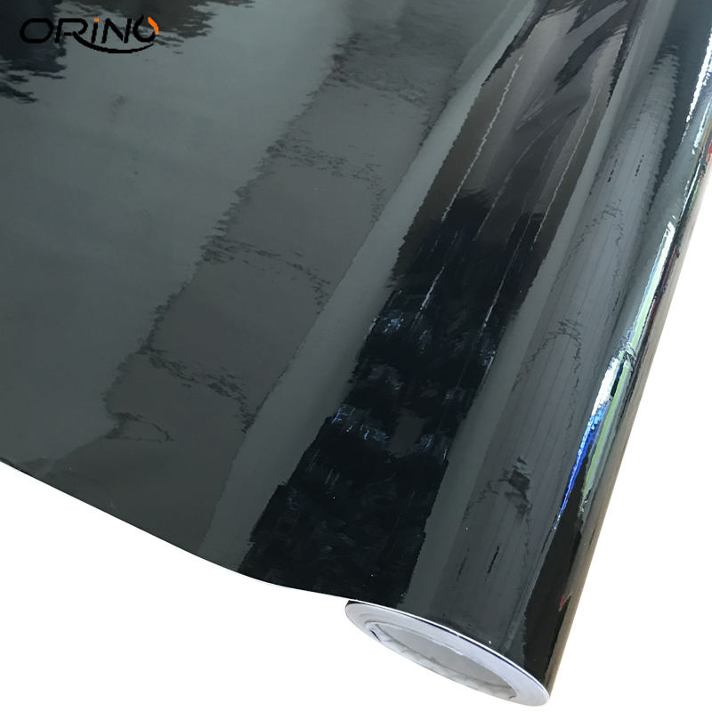 100/150/200/300/500CMX50CM Black Glossy Vinyl Film Piano Black Gloss Wrap Air Bubble Free Adhesive Car Sticker Wrapping Sheet