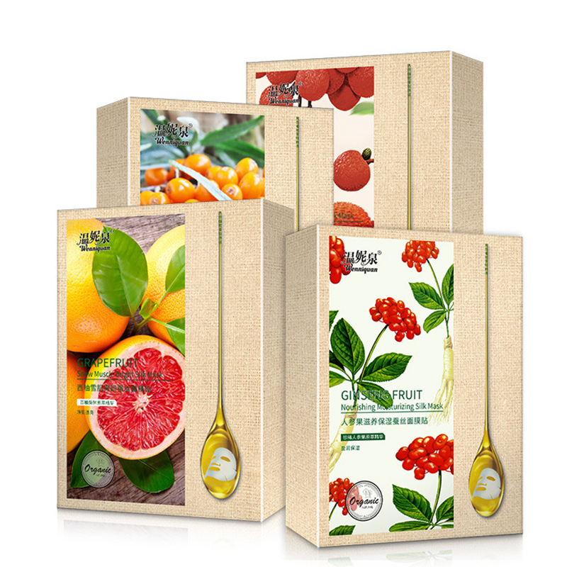 Fruit Mask Grapefruit Extracts Essence Face Mask Muscle Hydration Moisturizing Facial Skin Care Care Mask