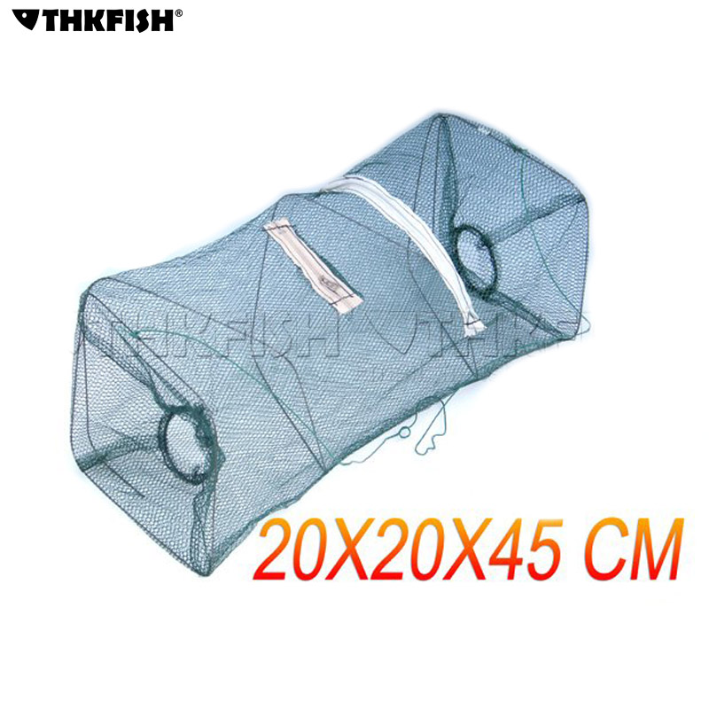 10 Pcs Foldable Fish Net Fishing Collapsible Crabs Shrimp Minnow Bait Lobster Crawfish Crawdad Trap Cast Fishing Keep Net Cage