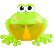 Bath toy Bathroom for swimming Bubble Machine Tub Big Frog Automatic Bubble Maker Blower 12 Music Song Bath Toy for Baby D300201(China)