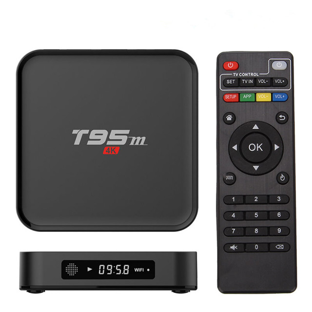 T95M Android TV Box Quad Core Amlogic S905X 64bit UHD 2K*4K IPTV KD Miracast DLNA Smart Set Top Box Media Player