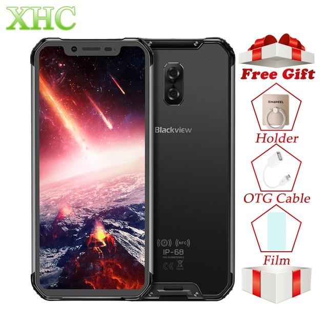 "Blackview BV9600 Pro 6.21"" 19:9 FHD Mobile Phone Octa Core 6GB+128GB 5580mAh Android 8.1 NFC Dual SIM IP68 Waterproof Smartphone"