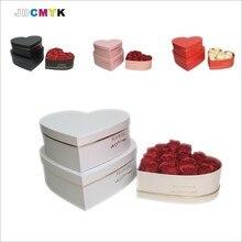 Лидер продаж 2020, подарочная коробка в форме сердца, цветочная упаковка, Золотая фольга, для свадебвечерние НКИ, на день матери, Рождество, по...