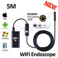 HD720P WIFI Endoscope Iphone HD Camera 8mm Lens 5M Flexible Snake USB Pipe Inspection Borescope Android IOS Tablet PC HD Camera