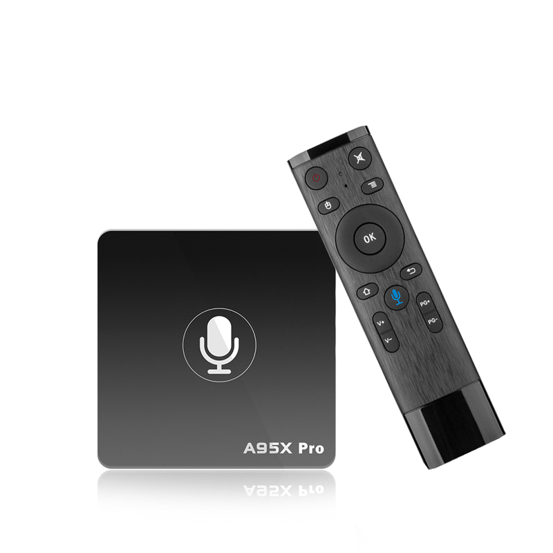 A95X PRO smart TV Box Android 7.1 Amlogic S905W Quad Core 2G 16G Wifi 4K Streaming set top box Google Voice Control media player a95x r1 android 7 1 latest kodi 18 0 version amlogic s905w tv box 4k 1g 2g 8g 16g quad core 4k wifi smart tv box media player