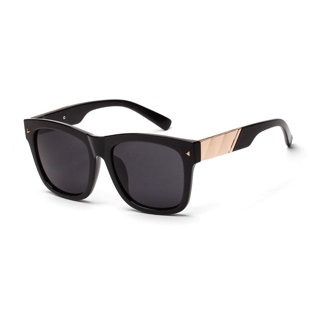 Large square frame sunglasses Mens retro rivet sun ...