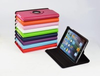 Top Quality Free Shipping Luxury 360 Degree Rotating Flip PU Leather Stand Case For Apple Ipad