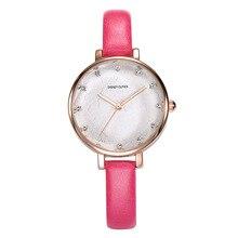 Disney бренда часы Дамы кварцевые 30 м водонепроницаемый Алмазный Женские наручные часы