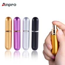 Anpro 5 мл Портативная Алюминиевая многоразовая парфюмерная бутылка с пульверизатором для путешествий контейнер с пустыми контейнерами флакон для духов