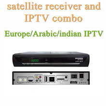 Europe IPTV India,Arabic IPTV Box Plus Satellites Receiver,Satellite Receiver and IPTV Combo Live Streaming Box IPTV Network