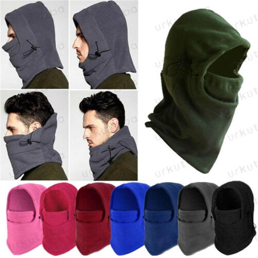Зимняя флисовая шапка для мужчин и женщин, теплая зимняя спортивная маска для лица для мужчин, лыжный шлем, лыжная Кепка