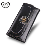 The New Retro Wind Cow Two Tier High Capacity Multi Function Mobile Phone Bag Multi Card