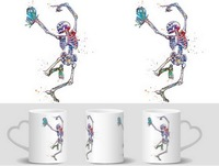 Doctor Who Mug Skeleton Dance Tardis Mugs Heat Changing Color Heat Reveal Cup Magic Mug Tea