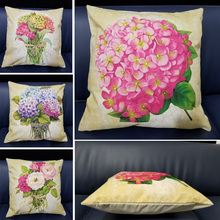 Beautiful Rose Flower Cushion Cover Mothers Day Plants Pillow Throw Case for Car Sofa Home Decorative