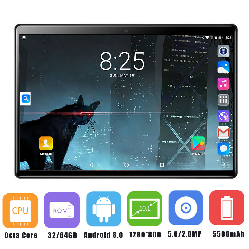 2019 Newest 10 inch Tablet PC 3G 4G LTE Octa Core Android 8 0 OS 4GB