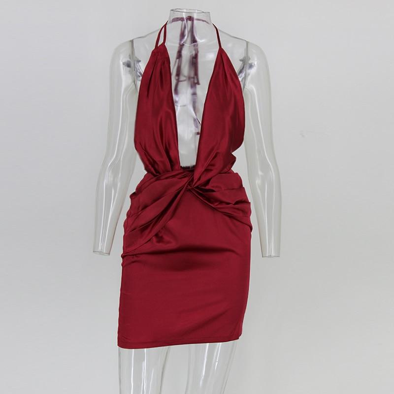 Aliexpress.com   Buy silky plunge wrap shift women dress sexy backless  asymmetric fold Waist bodycon dress Irregular Green evening party dresses  from ... 55ea5a08b