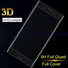 3D Gehard Glas Full Coverage Full Gelijmd Zachte Rand Screen Protector voor SONY Xperia XZ1Compact(China)
