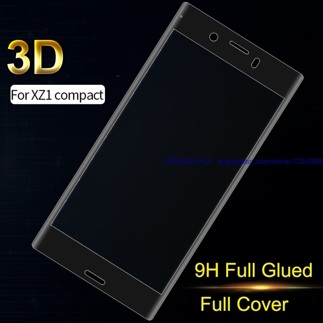 US $4 99 |For XZ1Compact 3D Tempered Glass Full Coverage Full Glued Soft  Edge Screen Protector for SONY Xperia XZ1Compact-in Phone Screen Protectors