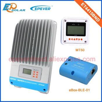 EPsolar ET4415BND 45A 45Amp 12 v/24 v/36 v/48 v funcionamiento automático mppt controlador de carga con medidor remoto blanco MT50 y función bluetooth