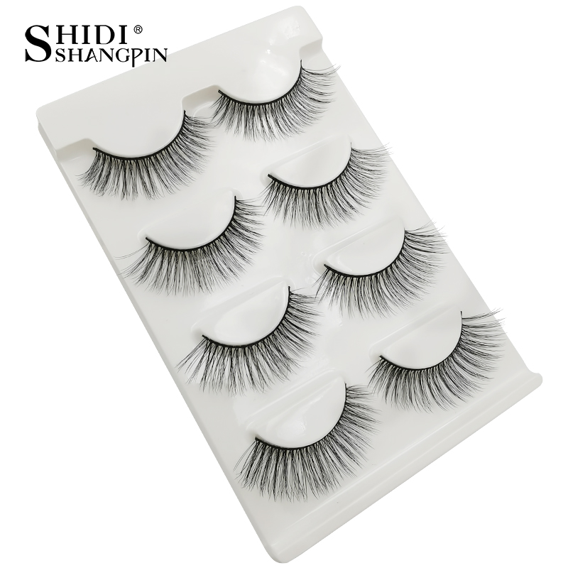 HTB1r1EsaPzuK1RjSspeq6ziHVXaE Natrual long 3D Mink False Eyelashes wholesale 4 pairs Fluffy Make up Full Strip Lashes 3D Mink Lashes faux cils Soft Maquiagem