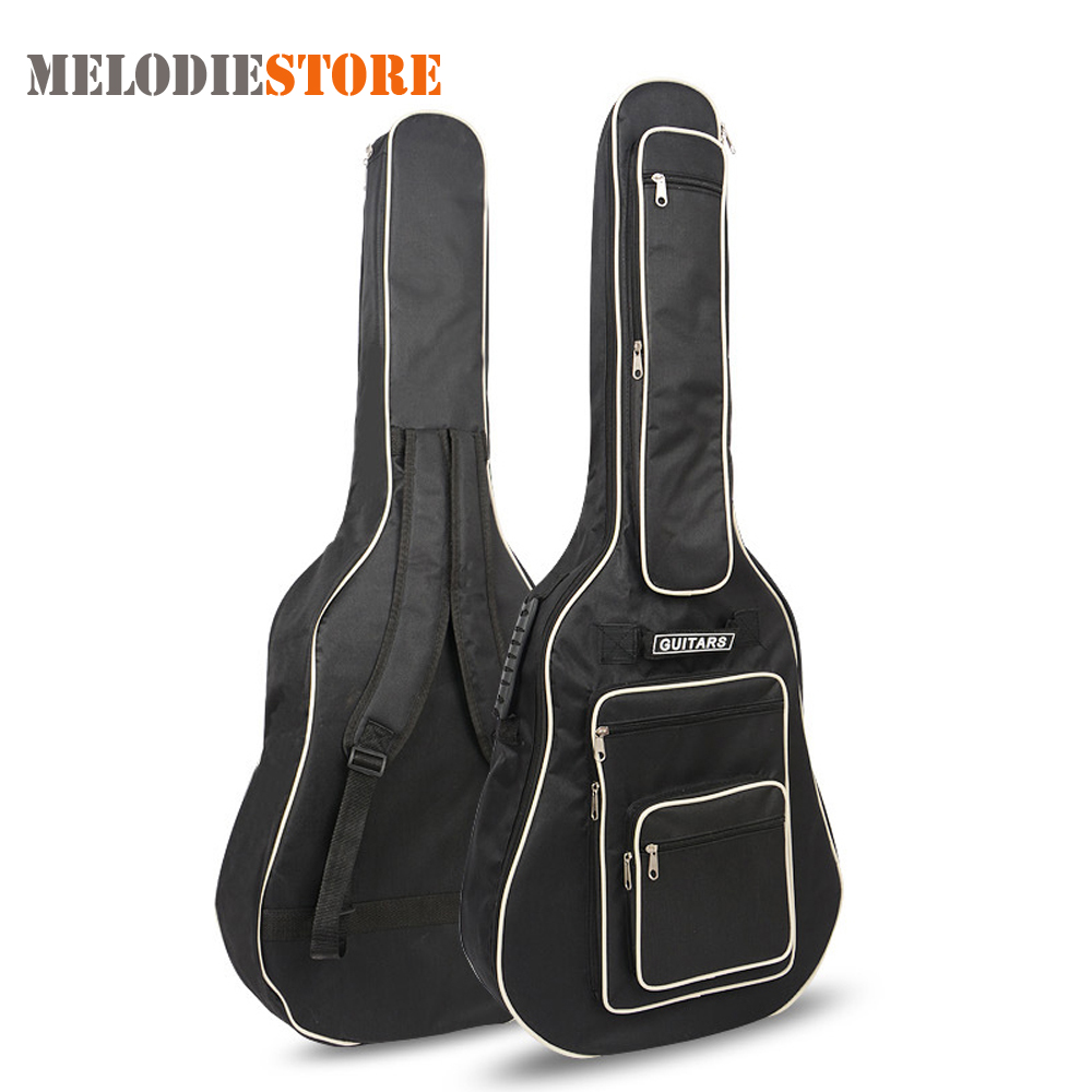 40 / 41 Inch Guitar Gig Bag Backpack 8mm Pad Cotton Thickening Acoustic Folk Guitar Soft Case Cover with Double Shoulder Straps free shipping 40inch folk guitar cover waterproof 41inch folk bag travel guitar case 41inch guitar bag folk shoulder strap bag
