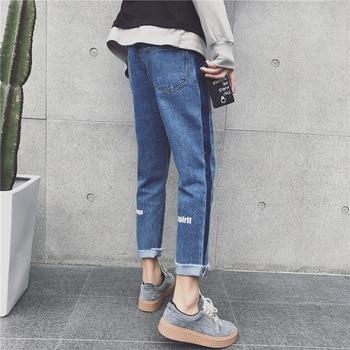 High quality 2020 spring autumn casual fashion striped harem knee hole leisure feet pants cargo denim jeans men youth pants фото