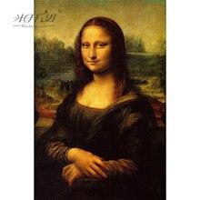 Michelangelo quebra cabeças de madeira 500 1000 1500 2000 peça mona lisa por leonardo da vin pintura arte brinquedo educacional decoração da sua casa