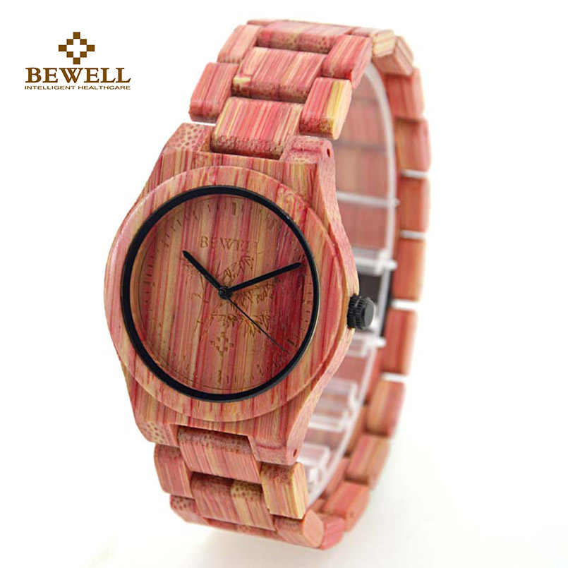 BEWELL Wood Watch Lightweight Bamboo Woman Luxury Quartz Wristwatch and Fashion Wooden Watches for Woman's Gift Relogio 105DL все цены
