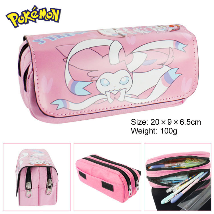 Pokemon Sylveon Boy Girl Cartoon Pencil Case Bag School Pouches Children Student Pen Bag Kids Purse Wallet Gifts 2016 new fashion novelty despicable me kids cartoon backpacks children minion school bag boy girl mochilas