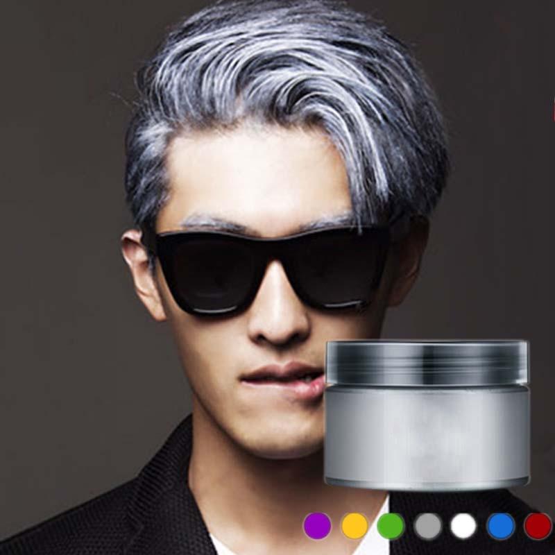 100120ml Dye Hair Mud New Fashion Grey Hair Dye Color Cream Chalk