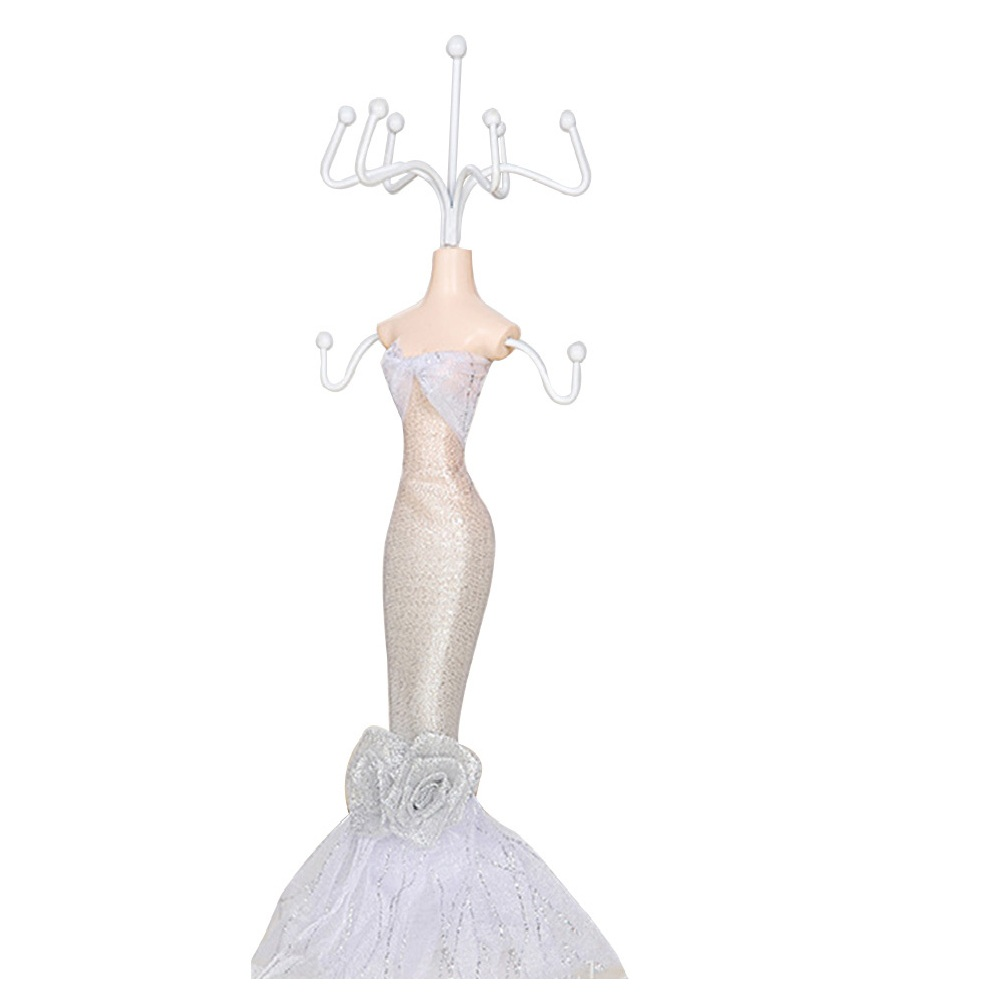 Mannequin Design Gown Dress Resin Lady Jewelry Stand Holder Earrings
