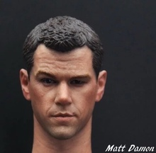 цена на 1/6 Scale Matt Damon Head Sculpt Green Zone For 12 Male Action Figure Body