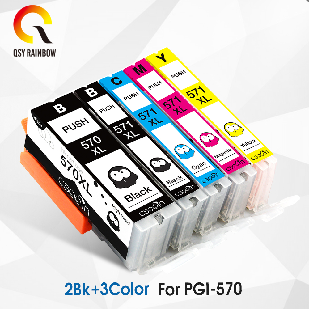 Compitalbe For Canon PGI 570 CLI 571 XL Ink Cartridge For Canon Pixma MG5750 MG5751 MG5752 MG5753 MG6850 MG7750 MG6853 MG7753