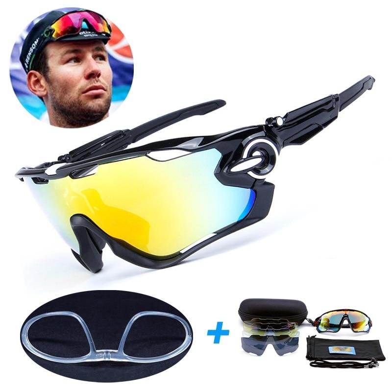 5 Lens Polarized Fishing Glasses Men Jaw Sport Fishing Sunglasses Men UV400 Breaker MTB Fishing Eyewear