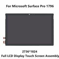 ใหม่12.3 ''สำหรับMicrosoft Surface Pro 1796 LP123WQ1 SPA2จอแสดงผลLCDระบบสัมผัสหน้าจอแก้ว