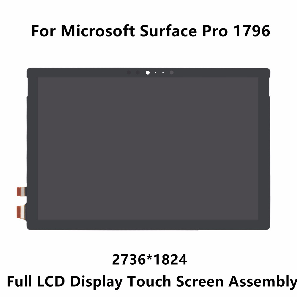New 12.3'' For Microsoft Surface Pro 1796 LP123WQ1 SPA2 LCD Display Panel Touch Screen Glass Sensor Digitizer Assembly 2736X1824 linninfiled lcd complete for microsoft surface book lcd display touch screen digitizer glass replacement repair panel