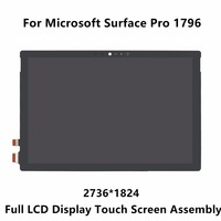 New 12 3 For Microsoft Surface Pro 1796 LP123WQ1 SPA2 LCD Display Panel Touch Screen Glass