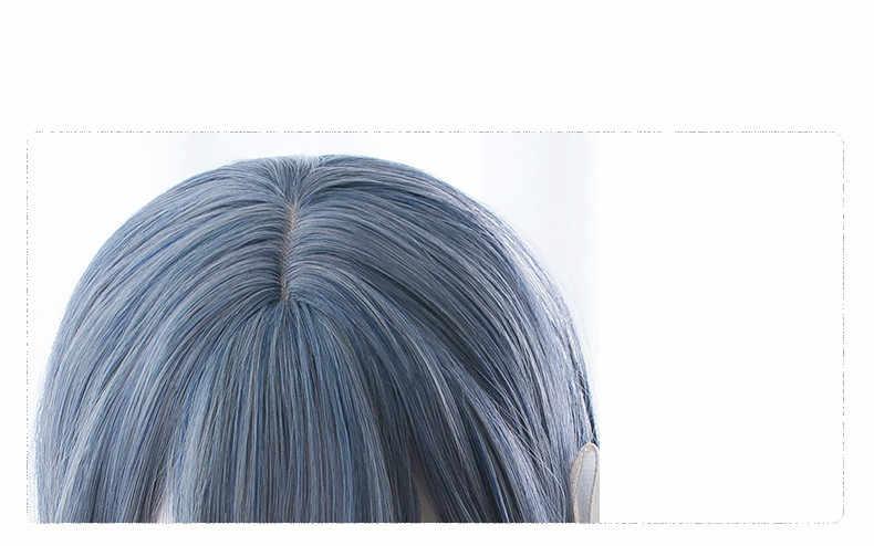 Японский парик Наруто Хината для женщин хиуга Хината косплей длинные синие волосы парик Comic-con Hinata Ролевые костюмы