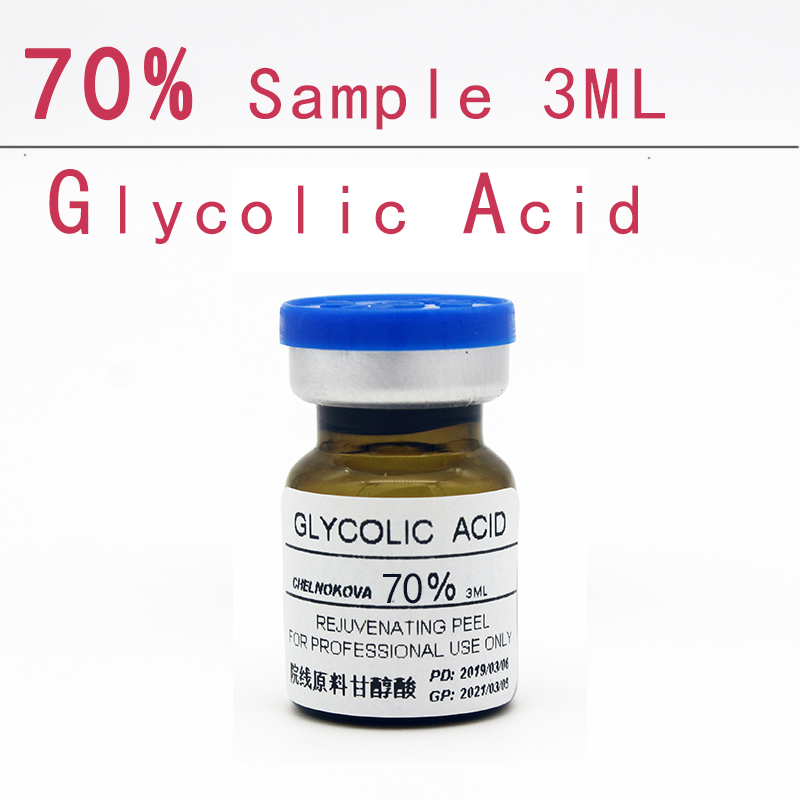 Beely Glycolic Acid 70% Sample 3ml Aha Skin Peeler Acid Peeling Remove Acne Pockmark Peeling Treatment Lichen Pilaris